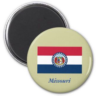 Bandera del estado de Missouri Imán Redondo 5 Cm