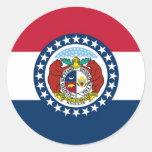 Bandera del estado de Missouri Pegatinas Redondas