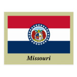 Bandera del estado de Missouri Tarjeta Postal