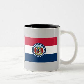 Bandera del estado de Missouri Taza De Dos Tonos