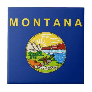 Bandera del estado de Montana Azulejo Cuadrado Pequeño