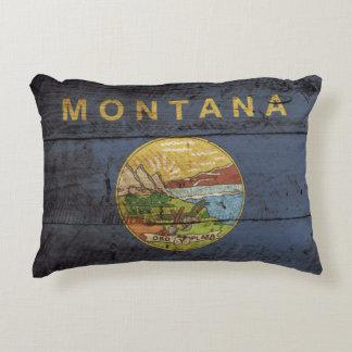 Bandera del estado de Montana en grano de madera