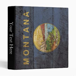 """Bandera del estado de Montana en grano de madera Carpeta 1"""""""