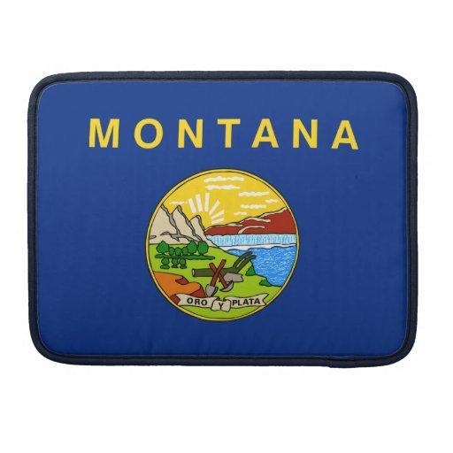 Bandera del estado de Montana Funda Macbook Pro