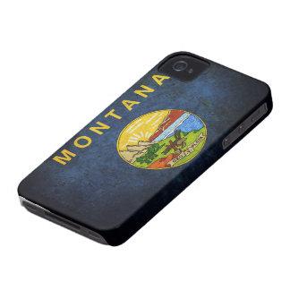 Bandera del estado de Montana iPhone 4 Case-Mate Carcasa