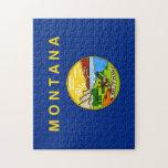 Bandera del estado de Montana Puzzle