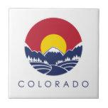 Bandera del estado de montaña rocosa de Colorado Azulejo