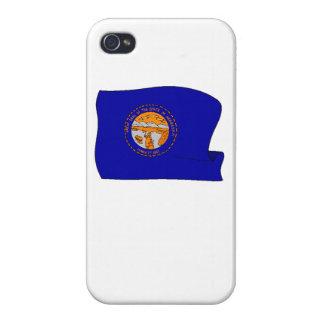 Bandera del estado de Nebraska iPhone 4/4S Funda