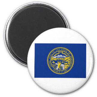 Bandera del estado de Nebraska Imán Redondo 5 Cm
