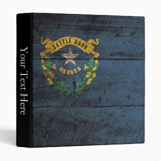 """Bandera del estado de Nevada en grano de madera Carpeta 1"""""""