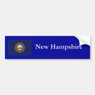 Bandera del estado de New Hampshire Pegatina Para Auto