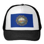 Bandera del estado de New Hampshire Gorros Bordados