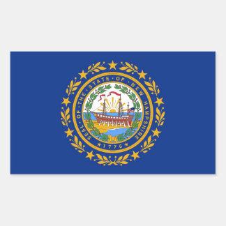 Bandera del estado de New Hampshire Pegatina Rectangular