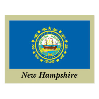 Bandera del estado de New Hampshire Postales
