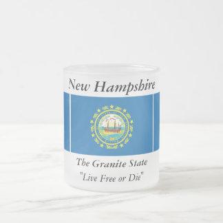 Bandera del estado de New Hampshire Taza De Café Esmerilada