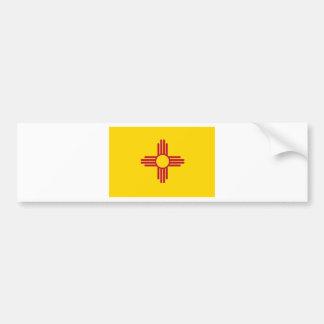 Bandera del estado de New México Pegatina De Parachoque