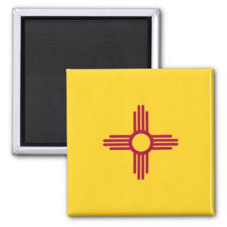 Bandera del estado de New México Imán Cuadrado