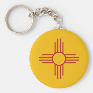 Bandera del estado de New México Llavero Personalizado