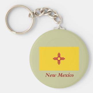 Bandera del estado de New México Llavero Redondo Tipo Pin