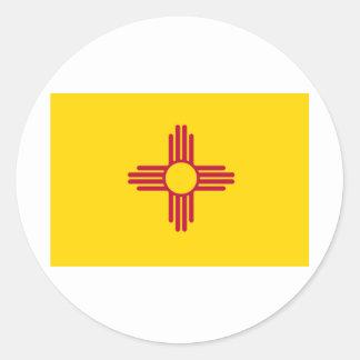 Bandera del estado de New México Pegatinas Redondas