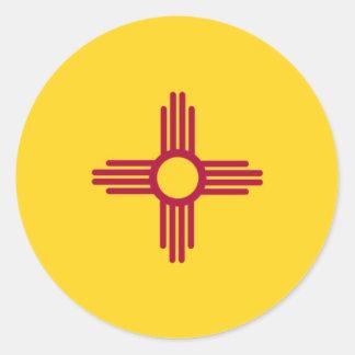 Bandera del estado de New México Pegatina Redonda