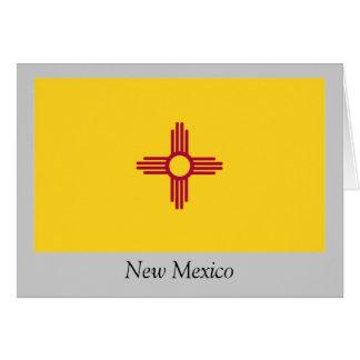 Bandera del estado de New México Tarjeta De Felicitación