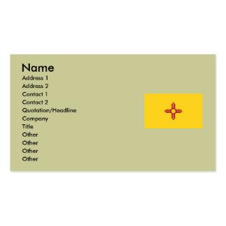 Bandera del estado de New México Tarjetas De Visita