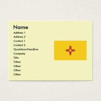 Bandera del estado de New México Tarjetas De Visita Grandes