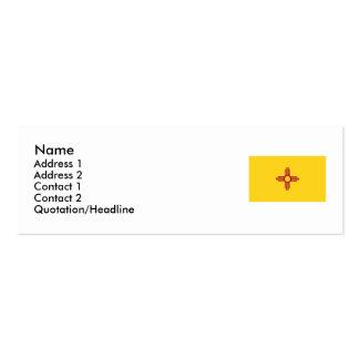 Bandera del estado de New México Tarjetas De Visita Mini