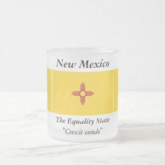 Bandera del estado de New México Taza De Café Esmerilada