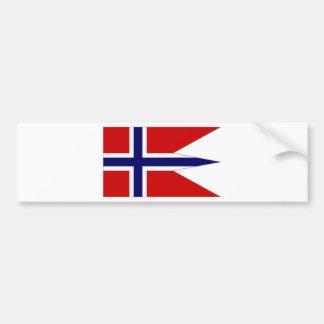 Bandera del estado de Noruega Etiqueta De Parachoque
