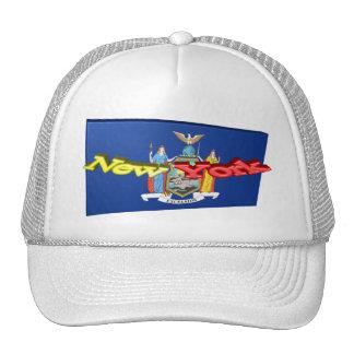bandera del Estado de Nuevo York 3D Gorros Bordados
