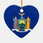 Bandera del Estado de Nuevo York Adorno