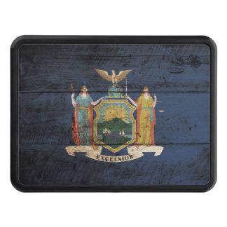 Bandera del Estado de Nuevo York en grano de Tapas De Tráiler