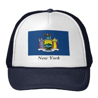 Bandera del Estado de Nuevo York Gorros Bordados