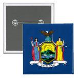 Bandera del Estado de Nuevo York Pin