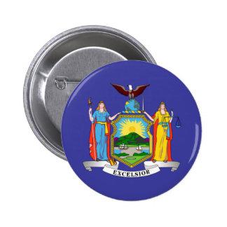Bandera del Estado de Nuevo York Pin Redondo De 2 Pulgadas