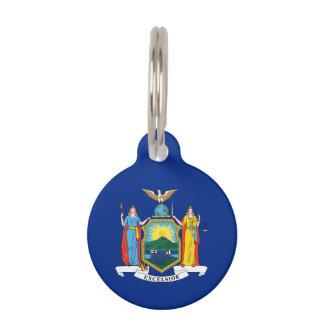 Bandera del Estado de Nuevo York Placa Para Mascotas