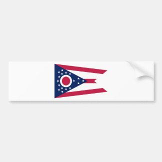 Bandera del estado de Ohio Etiqueta De Parachoque
