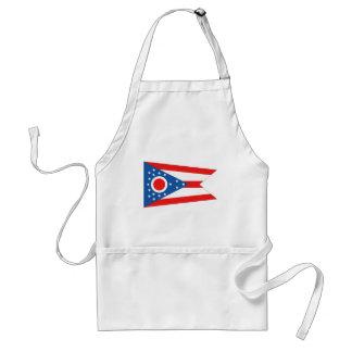 Bandera del estado de Ohio Delantal
