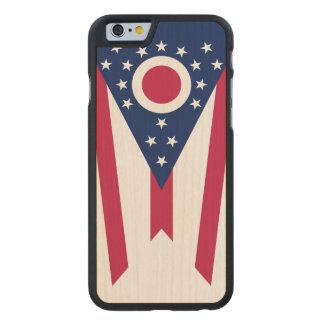 Bandera del estado de Ohio Funda De iPhone 6 Carved® Slim De Arce