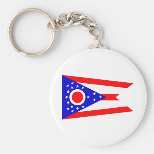 Bandera del estado de Ohio Llavero Redondo Tipo Pin