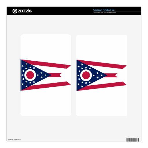Bandera del estado de Ohio Skins Para Kindle Fire