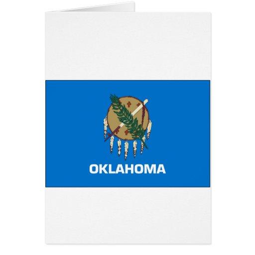 Bandera del estado de Oklahoma Tarjeta De Felicitación