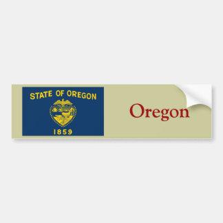 Bandera del estado de Oregon Etiqueta De Parachoque