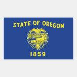 Bandera del estado de Oregon, Estados Unidos Pegatina Rectangular