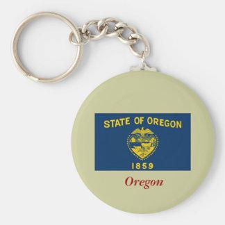 Bandera del estado de Oregon Llavero Redondo Tipo Pin