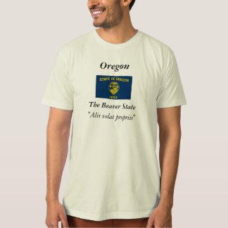 Bandera del estado de Oregon Remeras