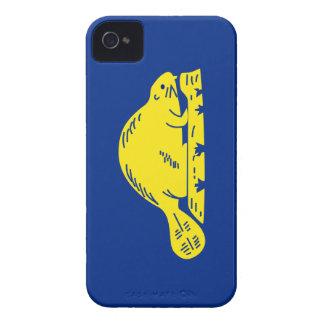 Bandera del estado de Oregon (revés) iPhone 4 Case-Mate Protector