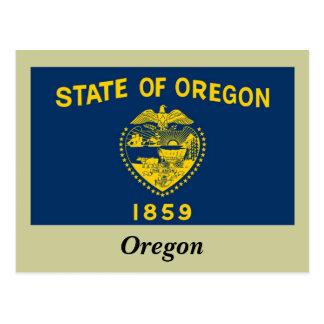 Bandera del estado de Oregon Tarjeta Postal